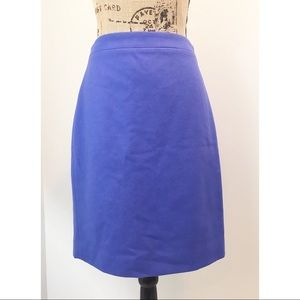 JCrew the Pencil Skirt wool cornflower Blue